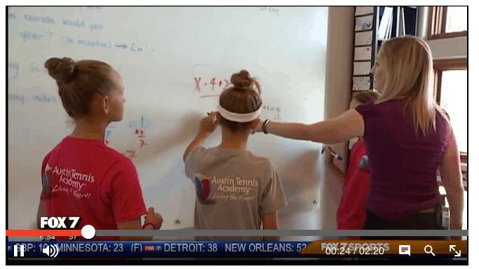 rachel belkin math tutor in Austin on the fox 7 austin news
