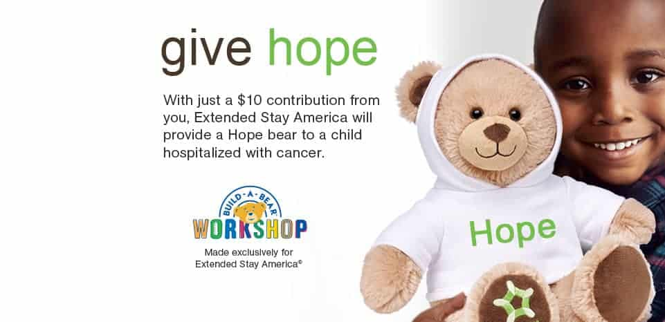 extended stay america give hope bears campaign