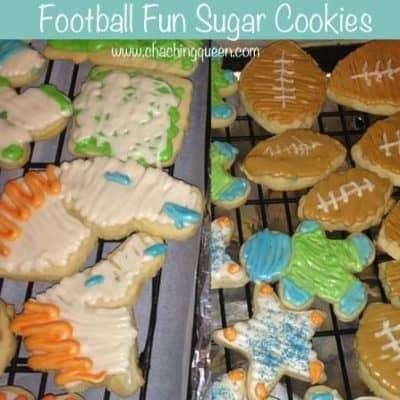 Football Fun Sugar Cookies for the Big Game