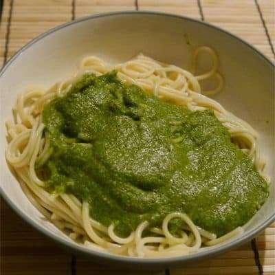 How to Make Pesto: Easy Healthy Pesto with Protein Recipe