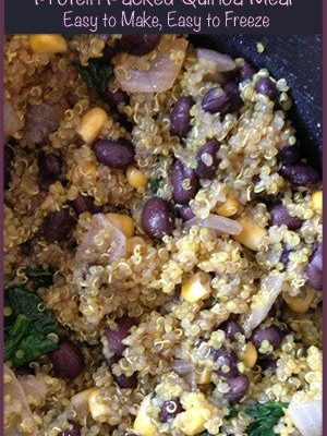 Protein Packed Quinoa Recipe Meal – Easy to Make, Easy to Freeze